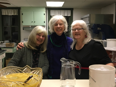 Members Winnie, Bev and Sue