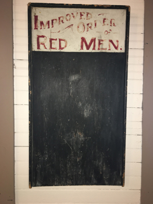 Red Men's Sign