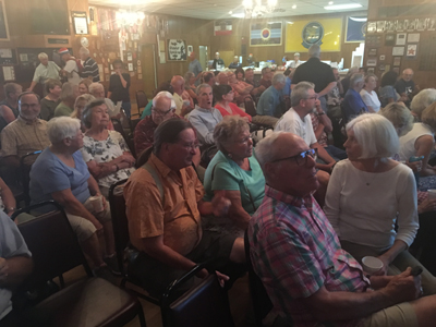Packed House at East Berlin VFW for David Taylor Presentation