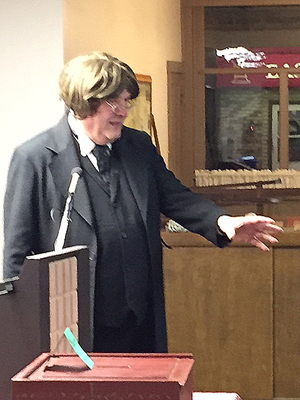 Ross Hetrick Portrayal of Thaddeus Stevens at General Meeting, 11/14/18