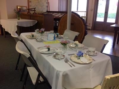 Nicely decorated table for Tea May 19, 2018
